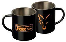 """FOX """"in acciaio inox nero XL 400 ml Tazza Caffè Tè Tazza Cardine carpa Accessorio"""