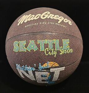 Vintage 1990's MacGregor Basketball Seattle City Series Nothin' But Net