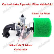 Mikuni VM22 26mm Carburetor Air Filter Intake Pipe 125 140cc CRF50 Pit Dirt Bike