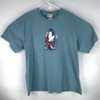 Vintage 90's Nike Basketball White Tag Mens Sz XL Blue Athletic Shirt