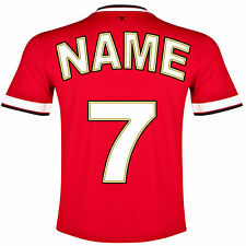 """An 8"""" Personalised Football Shirt any colour /name / number Cake Topper ICING"""