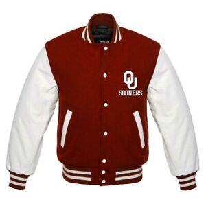 RARE Oklahoma Sooners NCAA  beautiful Varsity jacket small med large XL 2XL 3XL