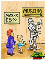 Masked MONSTERS ATTACK! The Mummy Wax Digital TRADING CARD #6 like topps gpk