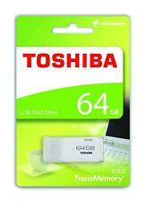 TOSHIBA 64GB unidad flash USB U202 TransMemory Windows & Mac COMPATIBLE BLANCO