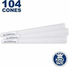 Elements 104 King Size Rice Cones - Natural Unbleached Unrefined Rolling Papers