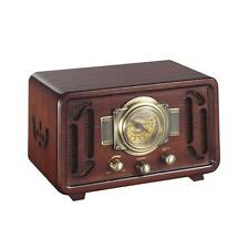 New PUNP34BT Vintage Retro Bluetooth AM/FM Radio Sound System, USB/SD Readers