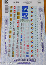Microscale Decal O #48-503 Industrial Safety and Warning Signs