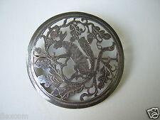 Große Antike Trachten Brosche Wild Hase Trophäe 900 Silber 13 g