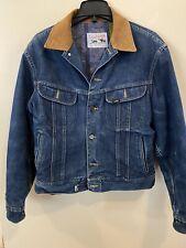 Lee Storm Rider Blanket Lined Denim Jacket, Usa Made Medium Vintage