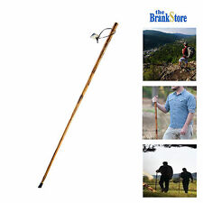 Wood Walking Stick Hand Carved Hiking Sticks Trekking Poles Outdoor Cane Staff