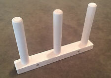 Triple Hard Maple Warping Pegs (No Clamps Included)