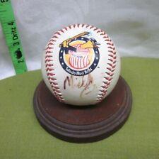 TOLEDO MUDHENS autograph baseball Muddy mascot Fotoball signed Ohio