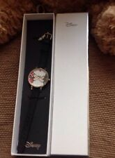 DISNEY Orologio in Vera Pelle Mickey Mouse & Minnie Kissing Amore Cuore