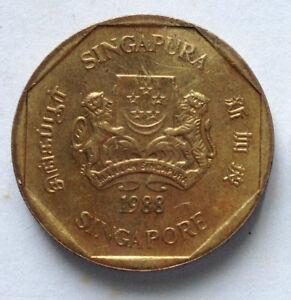 Singapore $1 coin 1988