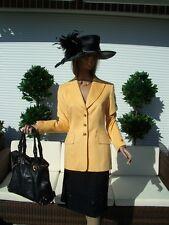 Schöner Couture ESCADA LUXUS Blazer Kuschel GOLD Jacket Angora 44/46 Golf TOP