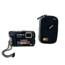 Panasonic LUMIX DMC-TS4 12.1MP Waterproof Tough Digital Camera Black W/ Case
