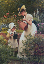 Needlework Crafts Embroidery DIY Counted Cross Stitch Kits - The Young Gardener
