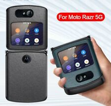 For Motorola Moto Razr 5G Case Luxury Genuine Leather Flip shockproof Cover case