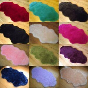 Faux Fur Fake Sheepskin Rugs Bushy Plain Soft Fuzzy Bedroom Washable Hairy Mat