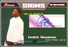 BOWMAN 2005 CEDRIC HOUSTON NFL NEW YORK JETS SIGNS OF THE FUTURE AUTOGRAPH #SFCH