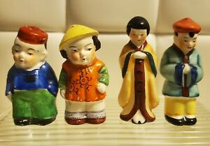 Vintage Man And Woman Salt And Pepper Shakers Lot Of 2 - Japan