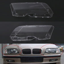Car Headlight Cover Lens fit for BMW 3 Series E46 98-01 4D Pre-facelift Plastic