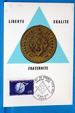GRAND ORIENT DE FRANCE   FRANCE CPA Carte Postale Maximum  Yt 1756 C