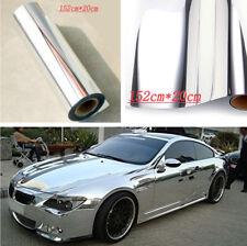 152cm*20cm Car DIY Decoration Flexible Electroplated Silver Film Sticker Decal