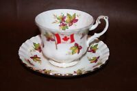 "Vintage Royal Albert English Bone China Cup & Saucer - ""Canada From Sea to Sea"""