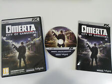 OMERTA CITY OF GANGSTERS JUEGO PC DVD-ROM ESPAÑOL KALYPSO HAEMIMONT