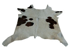 "Cowhide Rugs Calf Hide Cow Skin Rug (25""x29"") Cream and Brown CH8121"