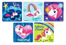15 Unicorn Stickers Kid Reward Princess Party Goody Loot Bag Filler Favor Supply