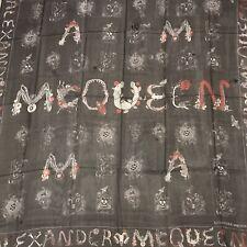 Alexander McQueen SL McQueen Cabinet Skull Chiffon Scarf