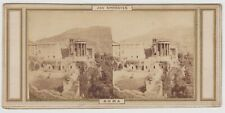 Italy stereoview-Tivoli and the Temple of the Sibyl by Joseph Spithöver