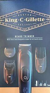 King C. Gillette Beard Trimmer - 3 x Interchangeable Combs for all Beard Types