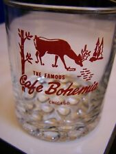 RARE VINTAGE~CAFE BOHEMIA~GAME RESTAURANT, CHICAGO~ADVERTISING GLASS TUMBLER #2
