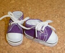 Doll Shoes, 47mm Dark Purple Sneakers - Bitty Bethany, Ann Estelle