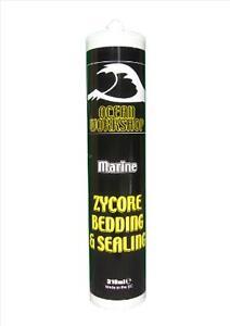 White Deck Bedding Sealing Adhesive Glue Bond Sealant Marine Wet Boat Hatch Wind