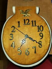 Eagle Clock Toilet Seat Wall Clock had a 1989 date.