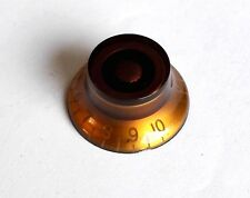 1 AMBER Volume Tone Control Bell Hat Knob for USA Gibson Les Paul Guitar CTS Pot