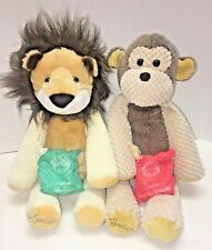 Lot 2 Scentsy ROARBERT LION MOLLIE MONKEY Buddy Scent Paks Full Size Stuff Plush