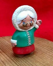 Hallmark Merry Miniatures - Mrs Santa Claus Waiving - Dated 1994