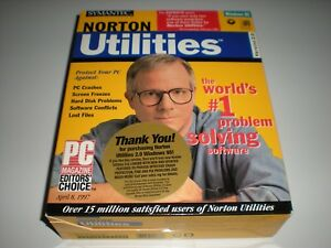 Norton Utilities version 2.0 for Windows 95. Sealed CD software package.