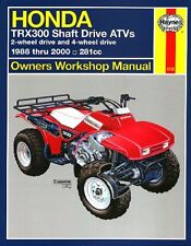 1988-2000 Honda Trx300 Trx 300 Shaft Four Trax Fourtrax Atv Quad Repair Manual