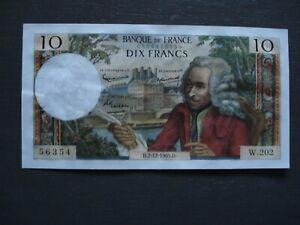 FRANCE 10 francs VOLTAIRE -F62/18 du 2/12/1965