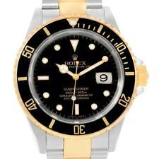 Rolex Submariner Steel Yellow Gold Black Dial Steel Mens Watch 16613
