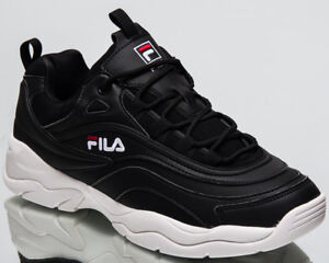 Fila Ray Low Top New Men's Lifestyle Shoes Black White 2018 Sneakers 1010561-25Y