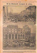 Balles de Coton Quai d'Orléans au Havre Place de la Bourse Munitions WWI 1915