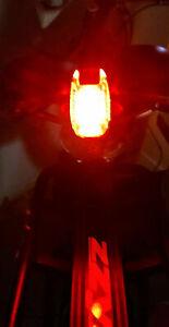 LED-FAHRRAD- RÜCKLICHT ★ LED-ANSTECKLAMPE ★ mit BATTERIEN ★ 3 STUFEN★ SCHÖN HELL