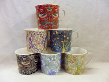 Set of 6 China palace Mugs in assorted vintage William Morris designs.